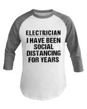 Electrician Social Distancing Baseball Tee thumbnail