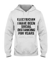 Electrician Social Distancing Hooded Sweatshirt thumbnail
