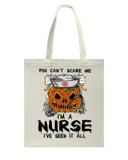 You Can't Scare Me I'm A Nurse Tote Bag thumbnail