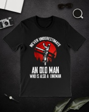 Lineman Oldman Classic T-Shirt lifestyle-mens-crewneck-front-16