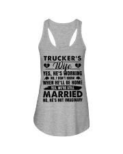 Trucker's Wife Yes He's Working Ladies Flowy Tank thumbnail