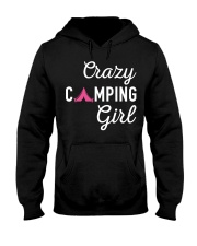Crazy Camping Girl Shirt Hooded Sweatshirt thumbnail