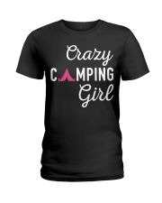Crazy Camping Girl Shirt Ladies T-Shirt thumbnail