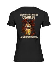 Being A Firefighter Is More Than Courage Premium Fit Ladies Tee thumbnail