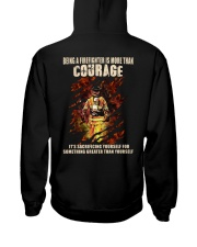 Being A Firefighter Is More Than Courage Hooded Sweatshirt thumbnail