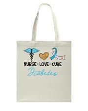 Nurse Love Cure Diabetes Tote Bag thumbnail