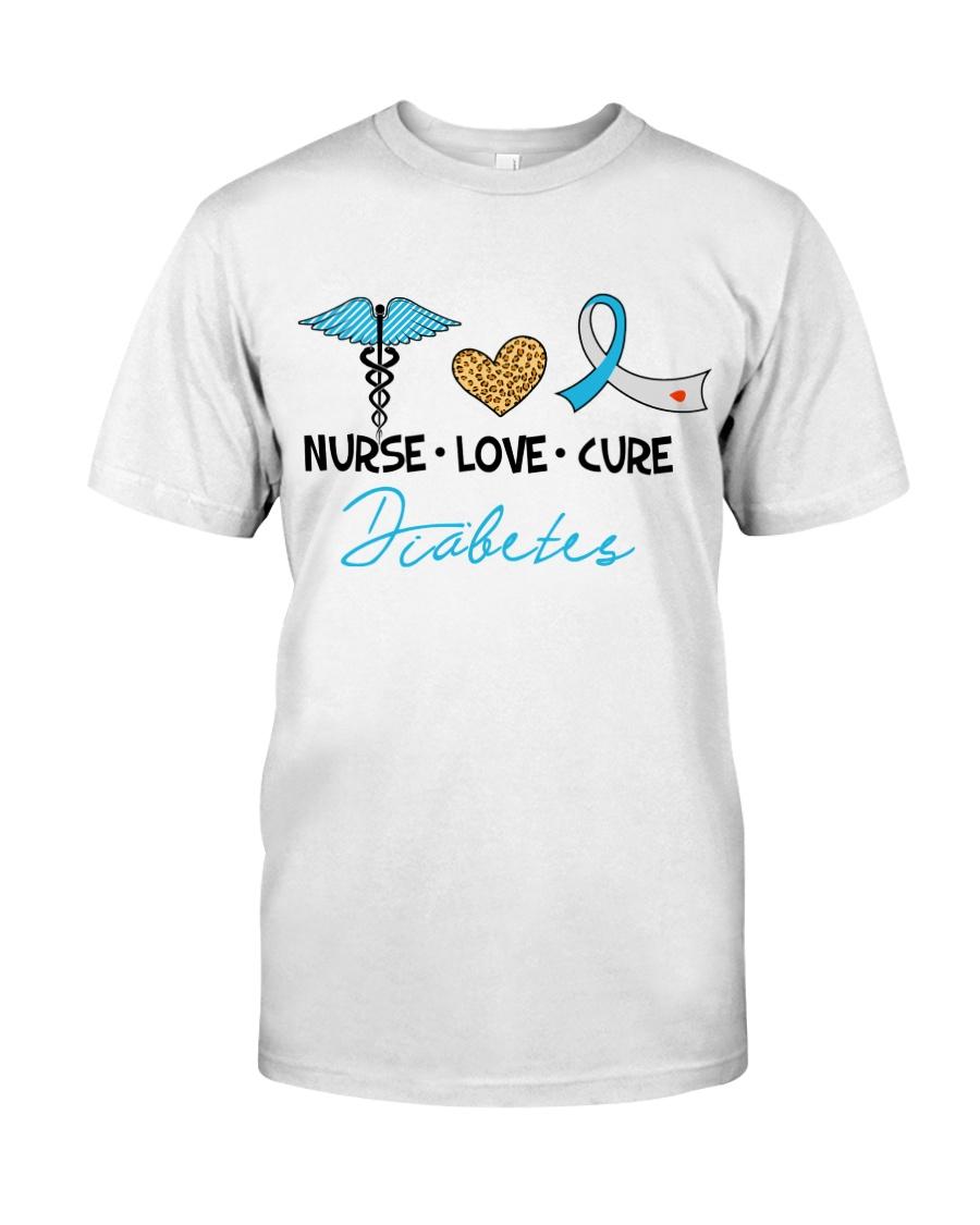 Nurse Love Cure Diabetes Classic T-Shirt