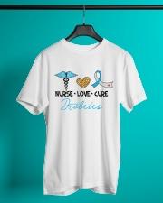 Nurse Love Cure Diabetes Classic T-Shirt lifestyle-mens-crewneck-front-3