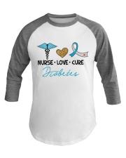 Nurse Love Cure Diabetes Baseball Tee thumbnail