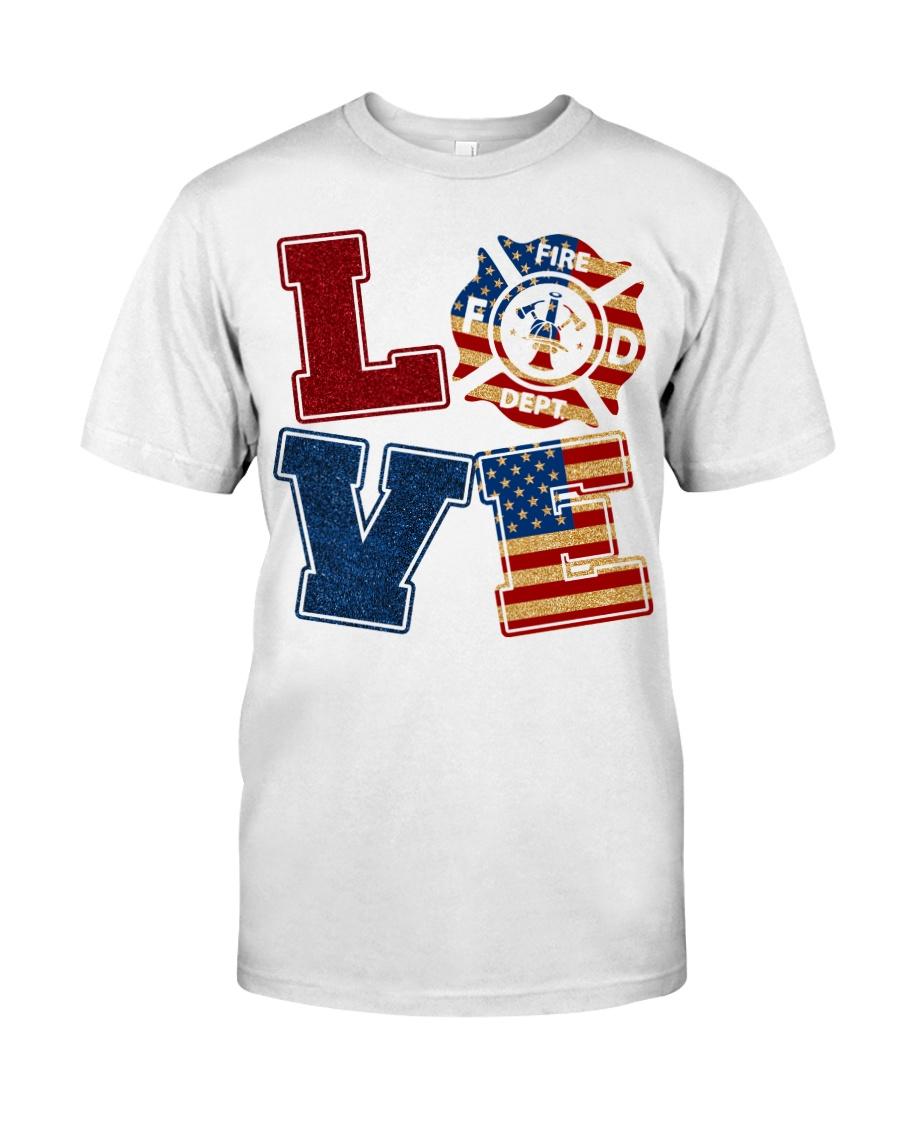 Love Firefighter Classic T-Shirt
