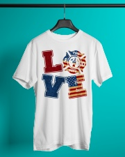 Love Firefighter Classic T-Shirt lifestyle-mens-crewneck-front-3