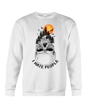 I Hate People camping Crewneck Sweatshirt thumbnail