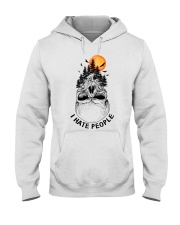 I Hate People camping Hooded Sweatshirt thumbnail