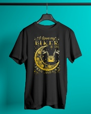 I Love My Biker To Ther Moon And Back Classic T-Shirt lifestyle-mens-crewneck-front-3