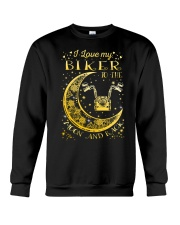 I Love My Biker To Ther Moon And Back Crewneck Sweatshirt thumbnail