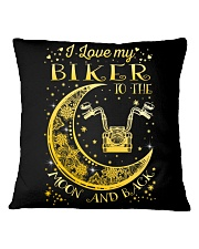 I Love My Biker To Ther Moon And Back Square Pillowcase thumbnail