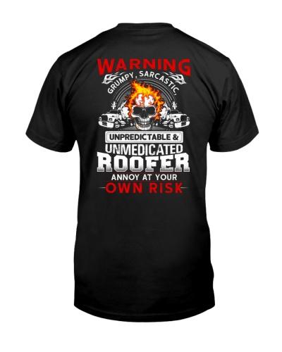 Warning Grumpy Sarcastic - Roofer