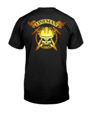 Lineman Skull Classic T-Shirt back