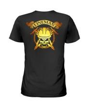 Lineman Skull Ladies T-Shirt thumbnail