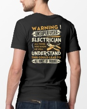 Electrician All Kinds Of Trouble Classic T-Shirt lifestyle-mens-crewneck-back-5