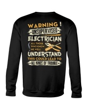 Electrician All Kinds Of Trouble Crewneck Sweatshirt thumbnail
