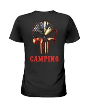 Camping Skull Ladies T-Shirt thumbnail