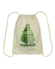 And Into The Forest I Go To Lose Drawstring Bag thumbnail