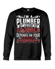 Plumber - Level Of Stupidity Crewneck Sweatshirt thumbnail