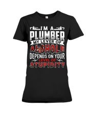 Plumber - Level Of Stupidity Premium Fit Ladies Tee thumbnail