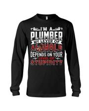 Plumber - Level Of Stupidity Long Sleeve Tee thumbnail