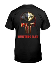 Hunting Dad Skull Classic T-Shirt back