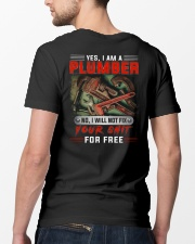 Plumber I Will Not Fix Your Shit  Classic T-Shirt lifestyle-mens-crewneck-back-5