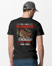 Plumber I Will Not Fix Your Shit  Classic T-Shirt lifestyle-mens-crewneck-back-6