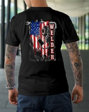 Flag Welder Tee Classic T-Shirt lifestyle-mens-crewneck-back-3