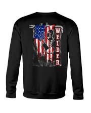 Flag Welder Tee Crewneck Sweatshirt thumbnail