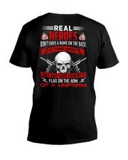 Flag On The Arm Of A Uniform V-Neck T-Shirt thumbnail