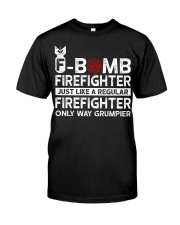 F-Bomb Firefighter Classic T-Shirt front