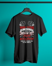 Protected By A Smokin' Hot Crazy Welder Classic T-Shirt lifestyle-mens-crewneck-front-3