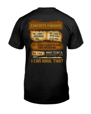 Concrete Finisher - I Can Haul That Classic T-Shirt back