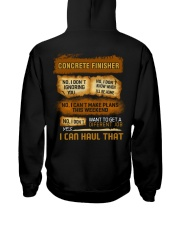 Concrete Finisher - I Can Haul That Hooded Sweatshirt thumbnail