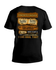 Concrete Finisher - I Can Haul That V-Neck T-Shirt thumbnail