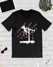 Lineman Pole Christmas Light Classic T-Shirt lifestyle-mens-crewneck-front-17