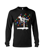 Lineman Pole Christmas Light Long Sleeve Tee thumbnail