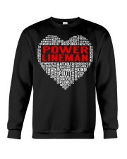 Power Lineman Heart Crewneck Sweatshirt thumbnail