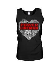 Power Lineman Heart Unisex Tank thumbnail