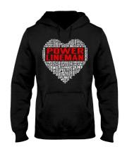 Power Lineman Heart Hooded Sweatshirt thumbnail