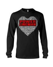 Power Lineman Heart Long Sleeve Tee thumbnail