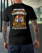 I May Seem Quiet And Reserver - While I'm Welding Classic T-Shirt lifestyle-mens-crewneck-back-3