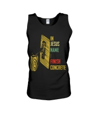 In Jesus Name I Finish Concrete Unisex Tank thumbnail