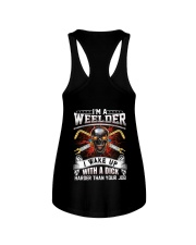 I'm A Welder I Wake Up With A Dick Ladies Flowy Tank thumbnail